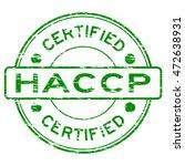 grunge green haccp  hazard... | Shutterstock .eps vector #472638931