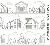 seamless pattern. buildings and ... | Shutterstock .eps vector #472641979