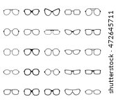 set of glasses and sunglasses ... | Shutterstock .eps vector #472645711