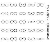 set of glasses and sunglasses ... | Shutterstock .eps vector #472645711
