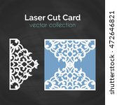 laser cut card. template for... | Shutterstock .eps vector #472646821