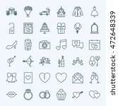 line save the date icons.... | Shutterstock .eps vector #472648339