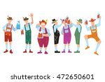 oktoberfest people in... | Shutterstock .eps vector #472650601