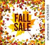 fall sale. autumn seasonal sale ... | Shutterstock .eps vector #472656355