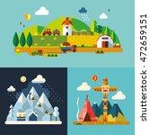 modern flat design conceptual... | Shutterstock .eps vector #472659151