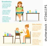 mother is breastfeeding on a... | Shutterstock .eps vector #472661191