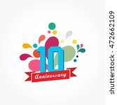 rousing colorful anniversary... | Shutterstock .eps vector #472662109