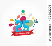 rousing colorful anniversary... | Shutterstock .eps vector #472662205
