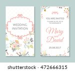 wedding set. romantic vector... | Shutterstock .eps vector #472666315
