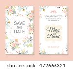 wedding set. romantic vector... | Shutterstock .eps vector #472666321