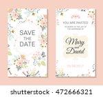 wedding set. romantic vector... | Shutterstock .eps vector #472666321