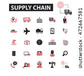 supply chain icons | Shutterstock .eps vector #472667581