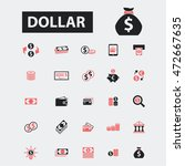 dollar icons | Shutterstock .eps vector #472667635