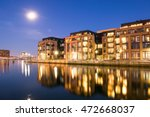apartment buildings in the... | Shutterstock . vector #472668037