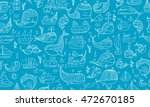 whales and ships  seamless... | Shutterstock .eps vector #472670185