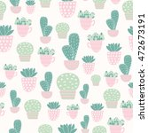 cactus and succulent plants...   Shutterstock .eps vector #472673191