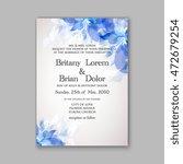 floral wedding invitation... | Shutterstock .eps vector #472679254
