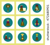 collection of icons in flat... | Shutterstock .eps vector #472680901