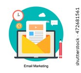 email marketing concept vector... | Shutterstock .eps vector #472681561