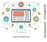 flat line business concept... | Shutterstock .eps vector #472686325