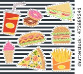 Set Of Fast Food Patches....