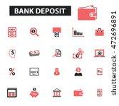 bank deposit icons | Shutterstock .eps vector #472696891