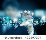 hand holding virtual box   Shutterstock . vector #472697374