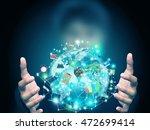 man holding object | Shutterstock . vector #472699414