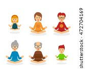 meditation people cartoon... | Shutterstock .eps vector #472704169