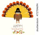 happy thanks giving vector.... | Shutterstock .eps vector #472704694
