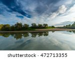 panorama of wild river with... | Shutterstock . vector #472713355