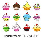 vector set of twelve different... | Shutterstock .eps vector #472733341