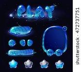 space  cartoon game assets set  ...