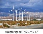 Windmills Rotating And...