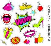 vector set of quirky cartoon... | Shutterstock .eps vector #472746604