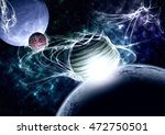 planets and nebula. | Shutterstock . vector #472750501