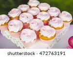 gourmet cupcakes with white... | Shutterstock . vector #472763191