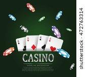 vector illustration on a casino ... | Shutterstock .eps vector #472763314
