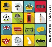 Great Britain Icons Set In Flat ...