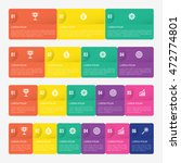 infographic template with 3  4  ... | Shutterstock .eps vector #472774801