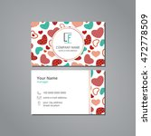 vector visit card template with ... | Shutterstock .eps vector #472778509