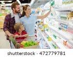family in supermarket   Shutterstock . vector #472779781