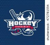 ice hockey badge  logo  emblem... | Shutterstock .eps vector #472781554