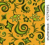 multicolored floral seamless... | Shutterstock .eps vector #472792591