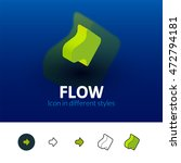 flow color icon  vector symbol...