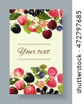 vector mix berry banner. design ... | Shutterstock .eps vector #472797685