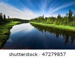 the river with a quiet current... | Shutterstock . vector #47279857
