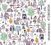 animals seamless pattern | Shutterstock .eps vector #472803034