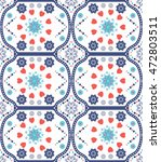 abstract seamless pattern  ... | Shutterstock .eps vector #472803511