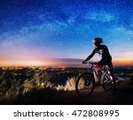 young athlete biker with... | Shutterstock . vector #472808995